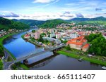 Elbe river in the surroundigs of Decin, Usti nad Labem region, Czech Republic.