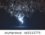 abstract graphic consisting of... | Shutterstock .eps vector #665112775