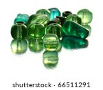 Green Beads With Reflections