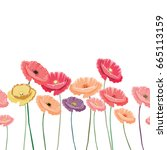 vector illustration of colorful ... | Shutterstock .eps vector #665113159