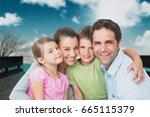 digital composite of family... | Shutterstock . vector #665115379