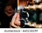 play guitar arm finger | Shutterstock . vector #665118199