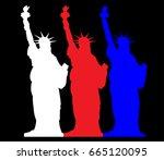 statue of liberty  ... | Shutterstock .eps vector #665120095
