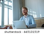 portrait of a successful young... | Shutterstock . vector #665131519