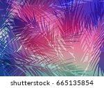 abstract tropical summer... | Shutterstock . vector #665135854