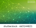 abstract line. vector abstract... | Shutterstock .eps vector #665144821