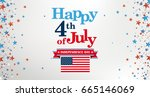 header for the independence day.... | Shutterstock .eps vector #665146069