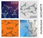 line vector. set of backgrounds ... | Shutterstock .eps vector #665148979