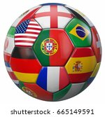 portugal football with world... | Shutterstock . vector #665149591