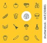 vector illustration of 16... | Shutterstock .eps vector #665150881