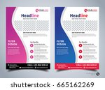 flyer design template vector ... | Shutterstock .eps vector #665162269
