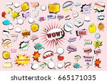 large collection set of vector... | Shutterstock .eps vector #665171035