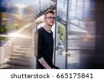 young handsome guy. the guy... | Shutterstock . vector #665175841