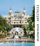 monte carlo  monaco   july 6 ... | Shutterstock . vector #665176111