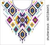 textile design for collar... | Shutterstock .eps vector #665186641