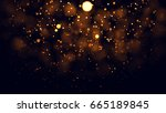 gold abstract bokeh background. ... | Shutterstock . vector #665189845