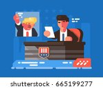 political tv show | Shutterstock .eps vector #665199277