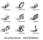 isometric 3d web icon set  ... | Shutterstock .eps vector #665206861