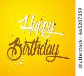 creative vector of happy... | Shutterstock .eps vector #665207359