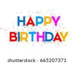 creative vector of happy... | Shutterstock .eps vector #665207371