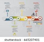5 steps timeline infographic... | Shutterstock .eps vector #665207401