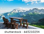 relaxation at  the top of the... | Shutterstock . vector #665210254