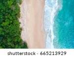sea aerial view top view... | Shutterstock . vector #665213929