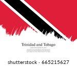 flag of trinidad and tobago ... | Shutterstock .eps vector #665215627