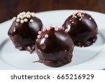 chocolate balls | Shutterstock . vector #665216929