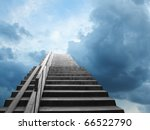 the image of steps pointed to... | Shutterstock . vector #66522790