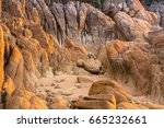 rocky beach background from... | Shutterstock . vector #665232661