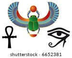 set of egyptian icons | Shutterstock .eps vector #6652381