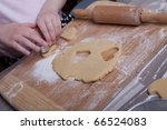 Making homemade christmas cookies in various shapes - stock photo