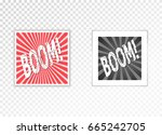 frame with shadow on a... | Shutterstock .eps vector #665242705