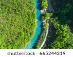 top view of the river in the... | Shutterstock . vector #665244319