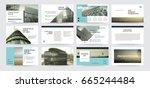 original presentation templates ... | Shutterstock .eps vector #665244484