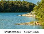 the archipelago sea is finland... | Shutterstock . vector #665248831