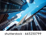 modern skyscrapers shot with... | Shutterstock . vector #665250799