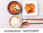 korean set table   Shutterstock . vector #665251849