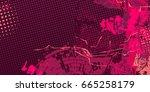 purple artistic neo grunge...   Shutterstock .eps vector #665258179