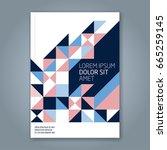 abstract minimal geometric line ... | Shutterstock .eps vector #665259145
