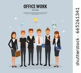 successful business people.... | Shutterstock .eps vector #665261341