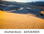 small ripples of sand orange.... | Shutterstock . vector #665264005