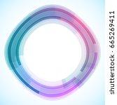 geometric frame from circles ... | Shutterstock .eps vector #665269411