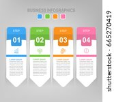 infographic template of four... | Shutterstock .eps vector #665270419