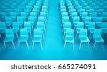 chair rows  3d illustration | Shutterstock . vector #665274091