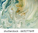 marbled blue  green and golden... | Shutterstock . vector #665277649