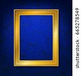 vintage gold picture frame on... | Shutterstock .eps vector #665278549