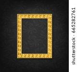 vintage gold picture frame on... | Shutterstock .eps vector #665282761