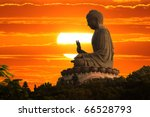Buddha Statue Over Scenic...